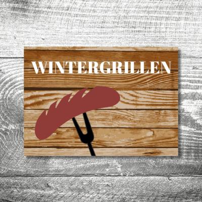 Wintergrillen | 2-Seitig | ab 0,70 €