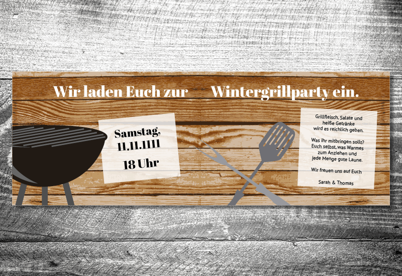 Wintergrillen   4-Seitig   ab 1,00 €   kartlerei