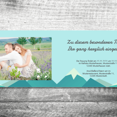 hochzeit 148x105 berge 2 3 400x400 - Hochzeit Berge | 4-Seitig | ab 1,00 €