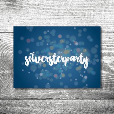 Silvesterparty Glitter | 2-Seitig | ab 0,70 €