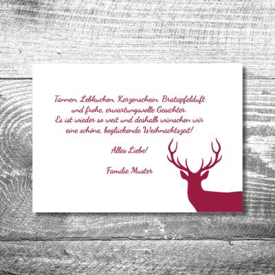 kartlerei weihnachten 148x105 14 400x400 - Hirsch   2-Seitig   ab 0,70 €