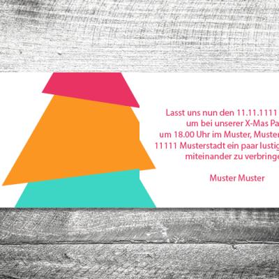 Party X-Mas modern | 4-Seitig | ab 1,00 €
