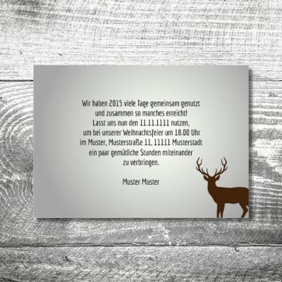 Weihnachtsfeier Waldlandschaft | 2-Seitig | ab 0,70 €