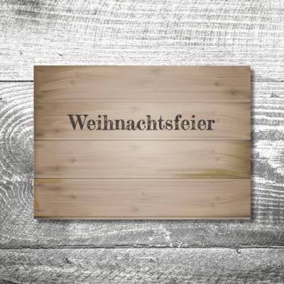 Weihnachtsfeier Holz | 2-Seitig | ab 0,70 €