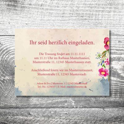 kartlerei 148x105 hochzeit einladungskarte17 400x400 - Hochzeit Hirsch | 2-Seitig | ab 0,70 €