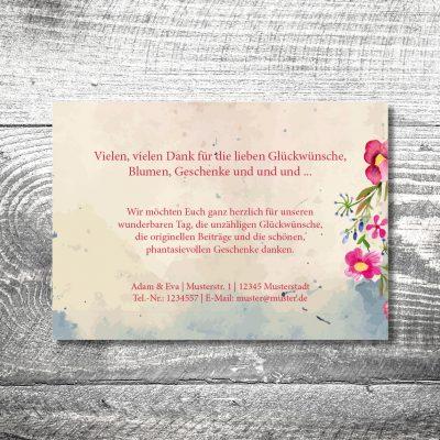 kartlerei 148x105 hochzeit einladungskarte21 400x400 - Danke Hirsch | 2-Seitig | ab 0,70 €