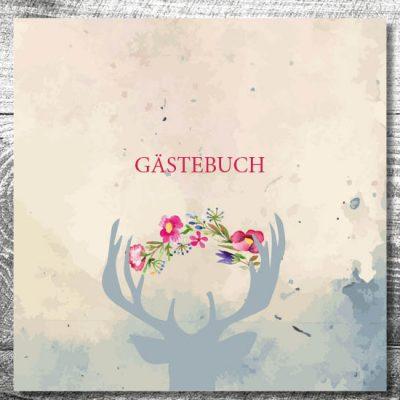 kartlerei gaestebuch hochzeit karten drucken 13 400x400 - Gästebuch Hirsch | ab 55,00 €