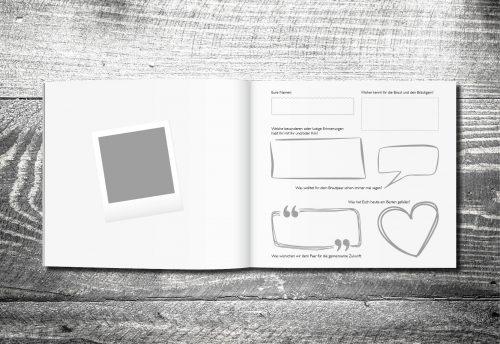 kartlerei gaestebuch hochzeit karten drucken inhalt2 500x344 - Gästebuch Vintageholz | ab 55,00 €