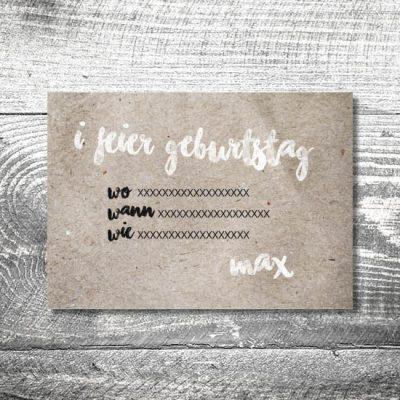 kartlerei karten drucken heimatgefuehl bayern einladungskarten 148x105 6 400x400 - Geburtstagseinladung auf Bayrisch