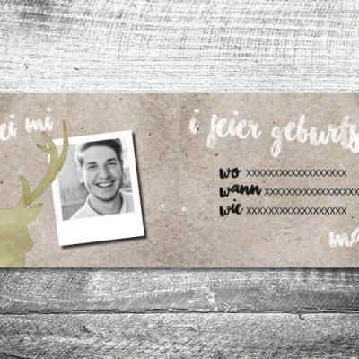 kartlerei karten drucken heimatgefuehl bayern einladungskarten 148x105 7 400x400 - Hirsch | 4-Seitig | ab 1,00 €