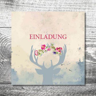 kartlerei karten drucken hochzeit einladung41 400x400 - Hochzeit Hirsch | 6-Seitig | ab 1,90 €