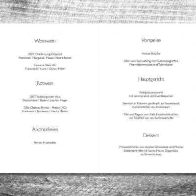kartlerei karten drucken hochzeit heiraten menue menuekarte11 400x400 - Menükarte Vintage