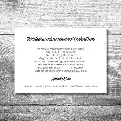 kartlerei karten drucken hochzeitseinladung heiraten bayern bayerisch heimatgefuehl hochzeit48 400x400 - Hochzeitskarten