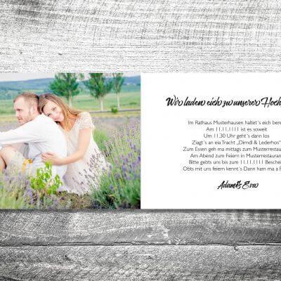 kartlerei karten drucken hochzeitseinladung heiraten bayern bayerisch heimatgefuehl hochzeit49 400x400 - Hochzeit Herzchenholz | 4-Seitig | ab 1,00 €