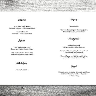 kartlerei einladungskarten hochzeitskarten menuekarten drucken karten gestalten hochzeit20 400x400 - Menükarte Herzchenbaum