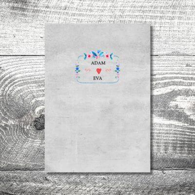 kartlerei einladungskarten hochzeitskarten menuekarten drucken karten gestalten hochzeit25 400x400 - Menükarte Vintageblumen
