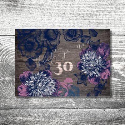 kartlerei karten drucken heimatgefuehl bayern bayrisch einladungskarten geburtstag bayerisch13 400x400 - Floralholz | 2-Seitig | ab 0,70 €