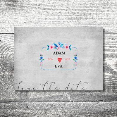 kartlerei hochzeit einladungskarten karten gestalten karten drucken hochzeitskarte 110 400x400 - Save the Date Vintageblumen | 2-Seitig | ab 0,70 €