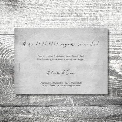 kartlerei hochzeit einladungskarten karten gestalten karten drucken hochzeitskarte 111 400x400 - Save the Date Vintageblumen | 2-Seitig | ab 0,70 €