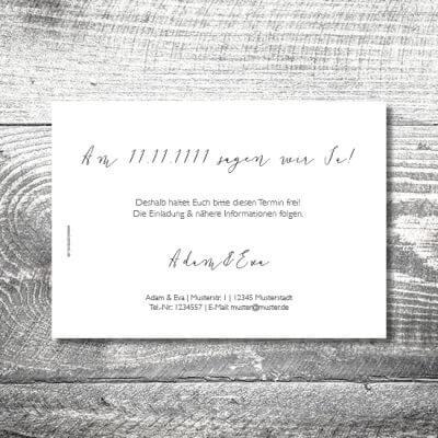 kartlerei hochzeit einladungskarten karten gestalten karten drucken hochzeitskarte 13 400x400 - Save the Date Goldener Hirsch   2-Seitig   ab 0,70 €