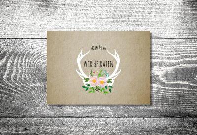 Hochzeit Flowerhirsch | 2 Seitig | Ab 0,70 U20ac · Bayrische  Hochzeitseinladung, Einladungskarten ...