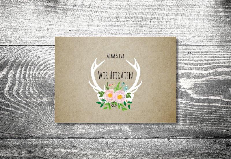 kartlerei hochzeit einladungskarten karten gestalten karten drucken hochzeitskarte 136 - Hochzeit planen und gestalten
