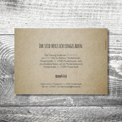 kartlerei hochzeit einladungskarten karten gestalten karten drucken hochzeitskarte 137 400x400 - Hochzeit Flowerhirsch | 2-Seitig  | ab 0,70 €