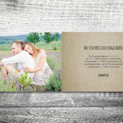 Hochzeit Flowerhirsch | 4-Seitig | ab 1,00 €