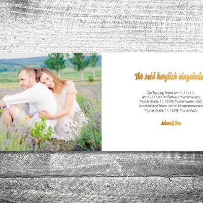 kartlerei hochzeit einladungskarten karten gestalten karten drucken hochzeitskarte 28 400x400 - Hochzeit Geweih | 4-Seitig | ab 1,00 €