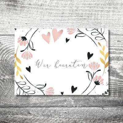kartlerei hochzeit einladungskarten karten gestalten karten drucken hochzeitskarte 4 400x400 - Hochzeitskarten