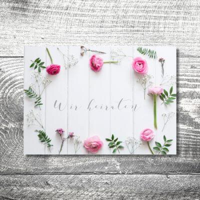 kartlerei hochzeit einladungskarten karten gestalten karten drucken hochzeitskarte 48 400x400 - Hochzeit Romantik | 4-Seitig | ab 1,00 €