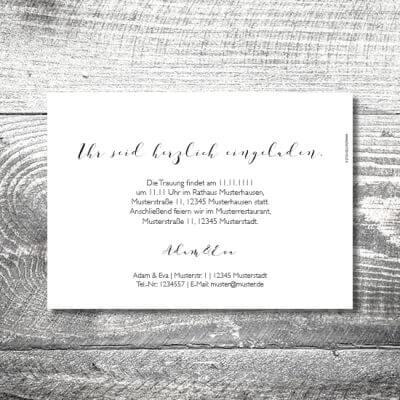 kartlerei hochzeit einladungskarten karten gestalten karten drucken hochzeitskarte 49 400x400 - Hochzeit Romantik | 2-Seitig  | ab 0,70 €