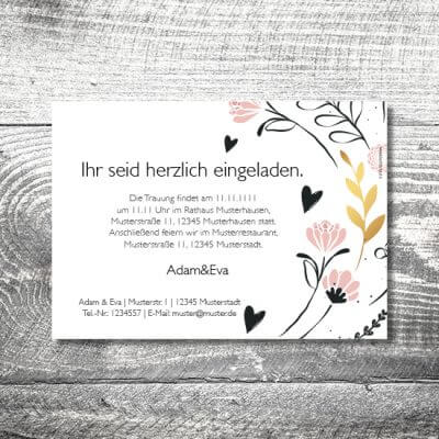 kartlerei hochzeit einladungskarten karten gestalten karten drucken hochzeitskarte 5 400x400 - Hochzeitskarten