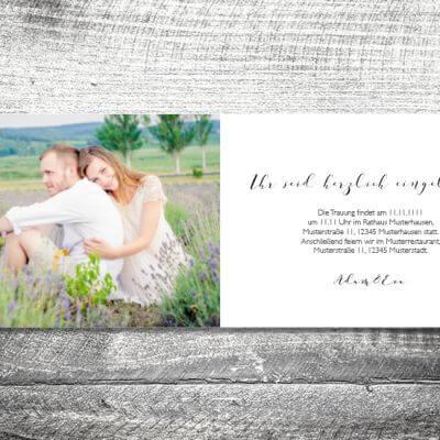 kartlerei hochzeit einladungskarten karten gestalten karten drucken hochzeitskarte 50 400x400 - Hochzeit Romantik | 4-Seitig | ab 1,00 €