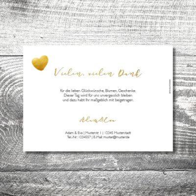 kartlerei hochzeit einladungskarten karten gestalten karten drucken hochzeitskarte 64 400x400 - Danke Hirschblümchen | 2-Seitig | ab 0,70 €