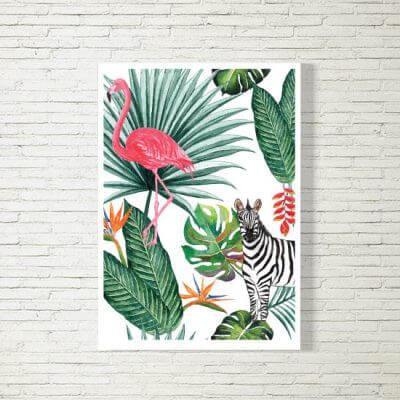 kartlerei poster bild drucken bayrisch spruch exotic dschungel 400x400 - Poster und Bilder