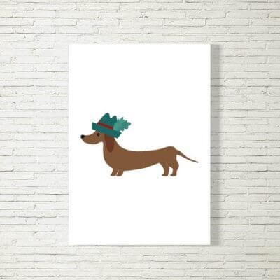 kartlerei poster bild drucken bayrisch spruch hund zamperl 400x400 - Poster und Bilder