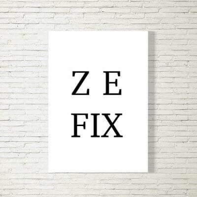 Poster/Bild | Zefix