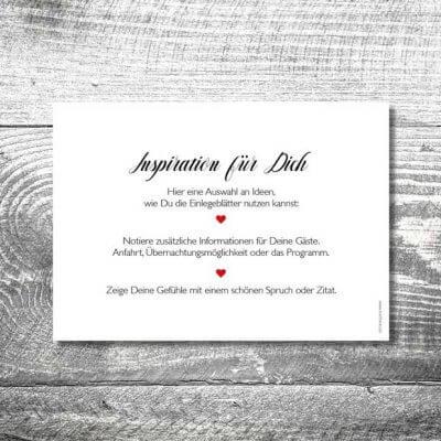 kartlerei karten drucken einladungskarten hochzeit einlegeblaetter 400x400 - Einlegblatt Hochzeitskarten | 1-Seitig bedruckt