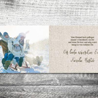 kartlerei karten drucken gestalten bayrische weihnachtskarten geweih 3 400x400 - Geweih Weihnachten | 4-Seitig | ab 1,00 €