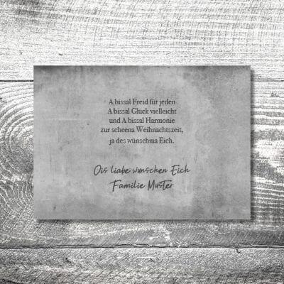 kartlerei karten drucken gestalten bayrische weihnachtskarten geweih vintage 2 400x400 - Vintagegeweih | 2-Seitig | ab 0,70 €