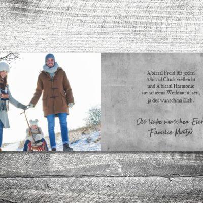 kartlerei karten drucken gestalten bayrische weihnachtskarten geweih vintage 3 400x400 - Vintagegeweih | 4-Seitig | ab 1,00 €