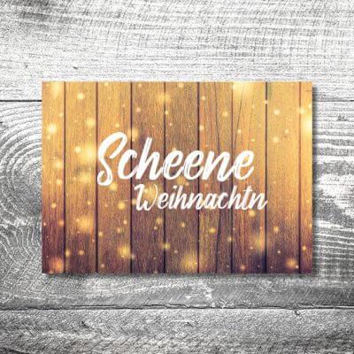 kartlerei karten drucken gestalten bayrische weihnachtskarten glitzerholz 400x400 - Glitterholz | 2-Seitig | ab 0,70 €