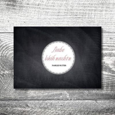kartlerei karten drucken gestalten bayrische weihnachtskarten tafel 400x400 - Tafel Weihnachten | 2-Seitig | ab 0,70 €