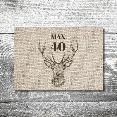 kartlerei karten drucken heimatgefuehl bayern einladungskarten bayrisch hirsch leinen 400x400 - Hirsch Leinen | 2-Seitig | ab 0,70 €