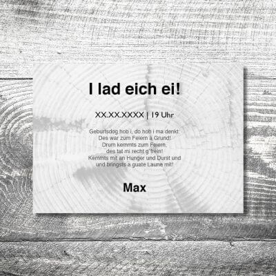 kartlerei karten drucken heimatgefuehl bayern einladungskarten bayrisch wer ko 2 400x400 - Wer ko, der ko | 2-Seitig | ab 0,70 €