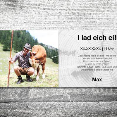 kartlerei karten drucken heimatgefuehl bayern einladungskarten bayrisch wer ko 3 400x400 - Wer ko, der ko | 4-Seitig | ab 1,00 €