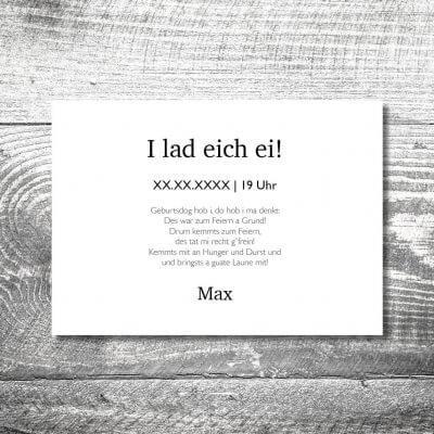 kartlerei karten drucken heimatgefuehl bayern einladungskarten bayrisch zefix 2 400x400 - Geburtstagseinladung auf Bayrisch
