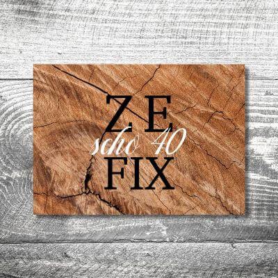 kartlerei karten drucken heimatgefuehl bayern einladungskarten bayrisch zefix 400x400 - Zefix | 4-Seitig | ab 1,00 €