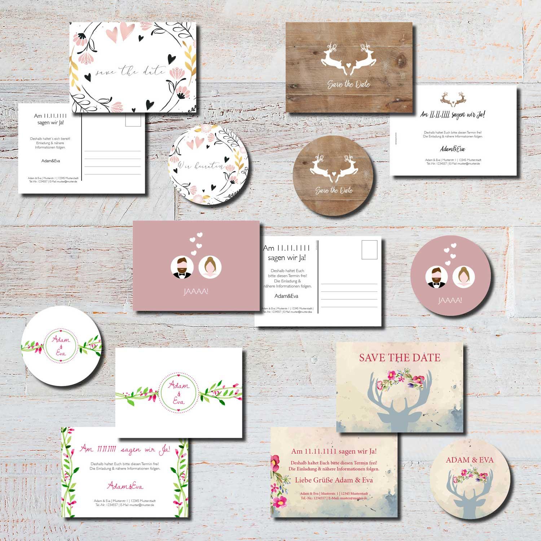 save the date heiraten hochzeit kartlerei karten bierdeckel drucken - Hochzeit planen und gestalten